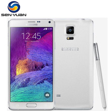 "Note 4 Original unlocked Samsung Galaxy Note 4 N910A N910F N910P Cell Phone 5.7 "" 16MP 3GB 32GB Mobile Phone(China)"
