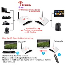 PAT-536 200m Wireless AV Swtich RCA Audio Video Transmitter Receiver Sender + IR Extended For Satellite IPTV Android Cable TV