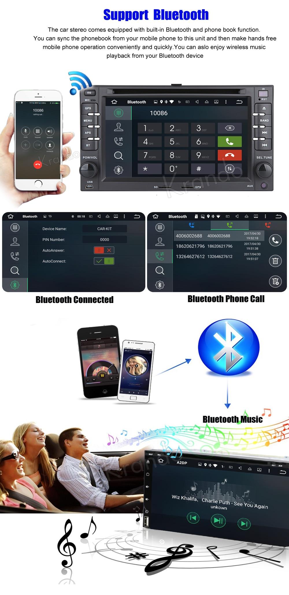 Krando kia ceed sportage Android car radio gps navigation multimedia system (7)