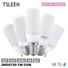 TSLEEN Led Lamp 5730SMD GU10/E27/G9/E14/B22 AC 110V/220V LED Corn Bulb Cool Warm White Lighting LED Spotlight 15W/20W/25W
