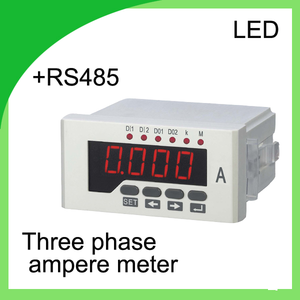 three phase digital ampere meter LED current meter  ammeter Class 0.5 digital current meter  with RS485 communication<br><br>Aliexpress