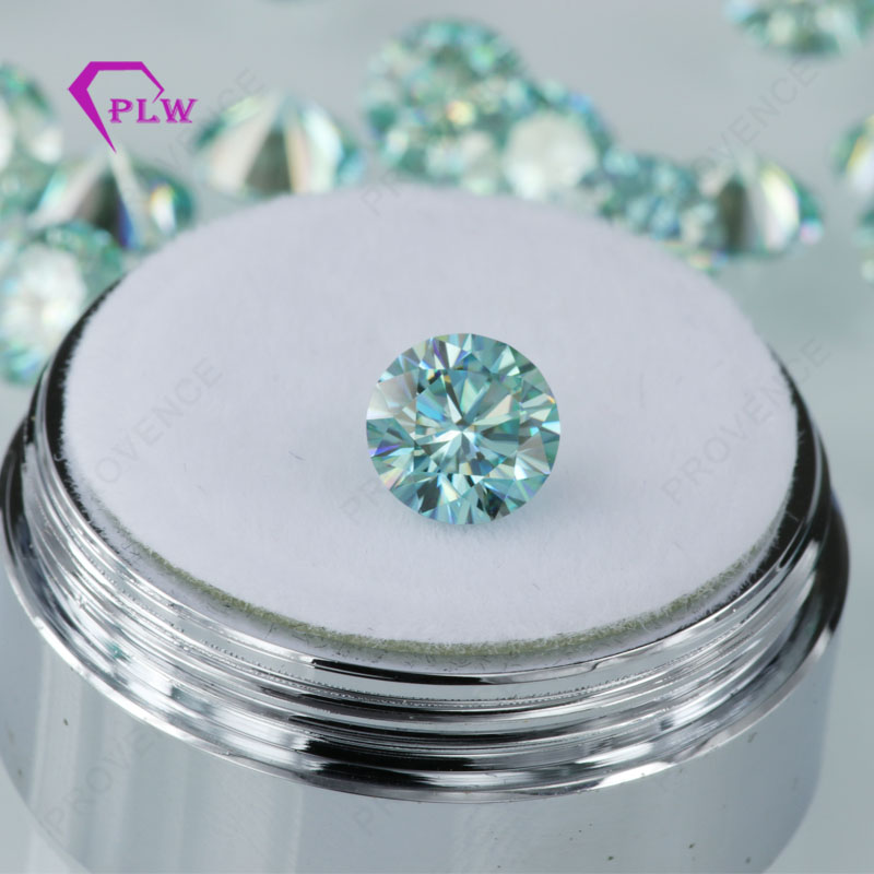 Jewelry Provence Discount Moissanite Brilliant The-Certification VVS 1ct Cut Blue Promotion title=