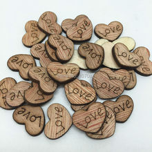 1000pcs 15mm Shabby Chic Wood Love Embellishments HEART Wedding Crafts Toppers Chips Cardmaking Scrapbooking(China)