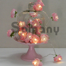 New Arrival Fashion Design Flower Light With Battery Case(3*AAA) 2M/20 Lamps/Set for Holiday/Party/Decoration Holiday Light