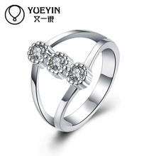 Fashion Silver-plating finger rings for lady Engagement rings bague argent Vintage High Quality Luxurious Wholesale Retail