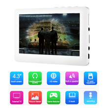 HD 4.3'' Touch Screen 8GB Build-in Speaker Mp4 MP5 Video Player FM Radio Recorder E-book reader MP3 MP4 Music Player TV output(China)