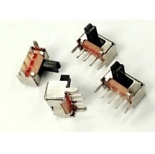 Free shipping 20pcs mini Pull switch snap switch with bracket 3 foot 2 file handle high 5MM