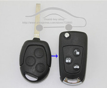 BRAND NEW CASE  FOR 3 BUTTONS MODIFIED FLIP FOLDING REMOTE KEY SHELL FOR FORD FOCUS(WHITE BUTTON) + Free Shipping