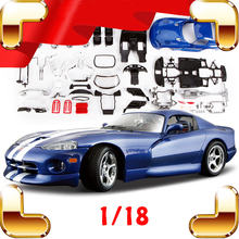 New Arrival Gift Viper GTS 1996 1/18 Alloy Model Car Vehicle Models Scale Diecast DIY Game Piece Decoration Metal Collection Toy