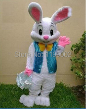 2014 Sell Like Hot Cakes Professional Easter Bunny Mascot costume Bugs Rabbit Hare Adult Free shipping