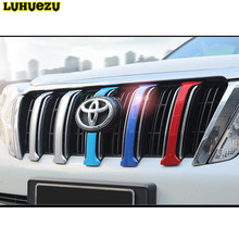 6PCS Chrome Front Grille Cover Trims For Toyota Land Cruiser Prado FJ 150 Accessories 2014 2015 2016 2017