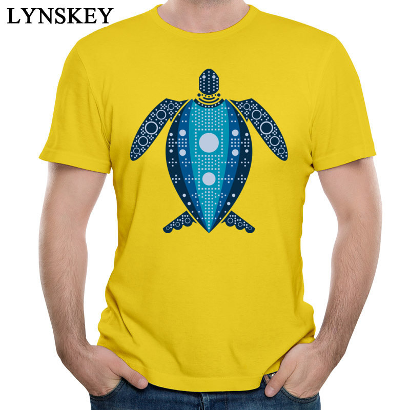 T Shirt Summer Short Sleeve Faddish Crew Neck 100% Cotton Tops Shirts Crazy Summer Autumn Leatherback Sea Turtle Sweatshirts for Boys yellow