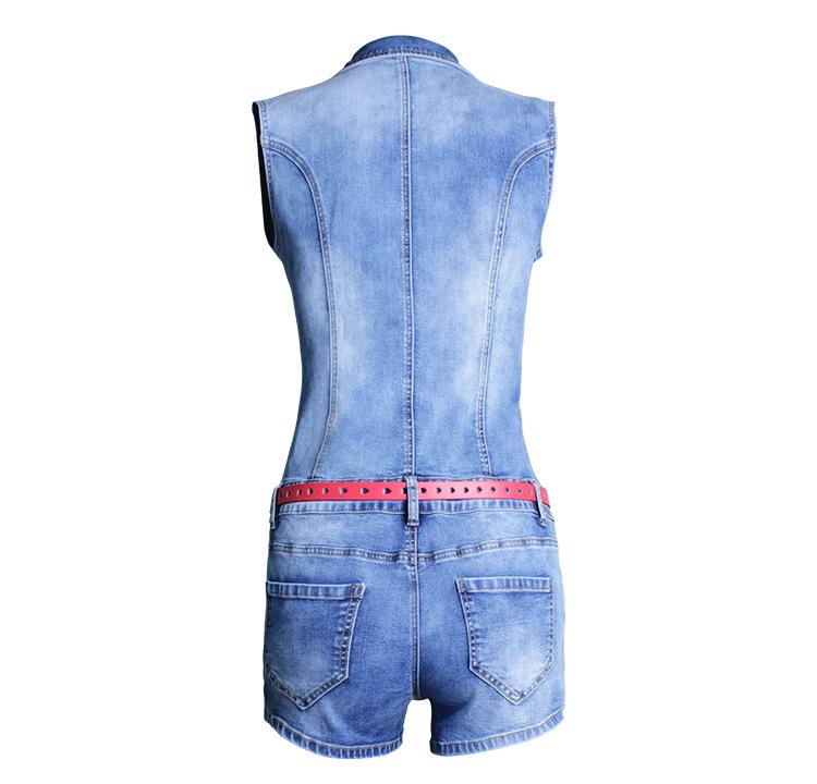 Single Breasted Women Playsuit Romper Sexy Skinny Bodysuit Denim Jumpsuits Summer Sleeveless Fashion Ladies Jeans Body Feminino (5)