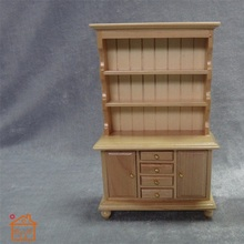 Display Cupboard Cabinet 3layer wooden miniature dollhouse 1/12 scale kids Furniture Toys