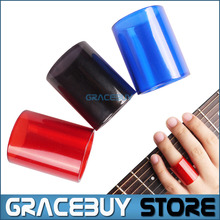 Colorful glass guitar slide finger slider, options of color black/red, length 2.6 cm Instrumentos Musicais