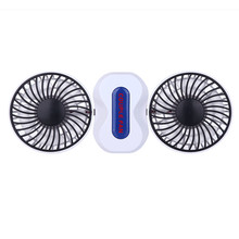 Mini Portable Rechargeable USB Fan Electric Air Conditioner Fan Angle Adjustment New Double Head Fan Strong Wind Desk Type