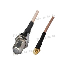 Factory sales RF Coaxial cable F to MMCX connector F female to MMCX male right angle Plug RG316 Pigtail cable 15cm free shipp(China)