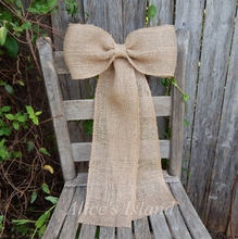 2pcs/lot Burlap Pew Bow Rustic Wedding Church Pew Fall Wedding Burlap Wedding Country Decor Vineyard Wreath Bow Customizable