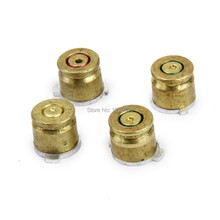 Gold 9mm Bullet Brass Button set  Aluminium Action Buttons Kit For Sony Dualshock 4 PS4 PS3 Controller Accessories