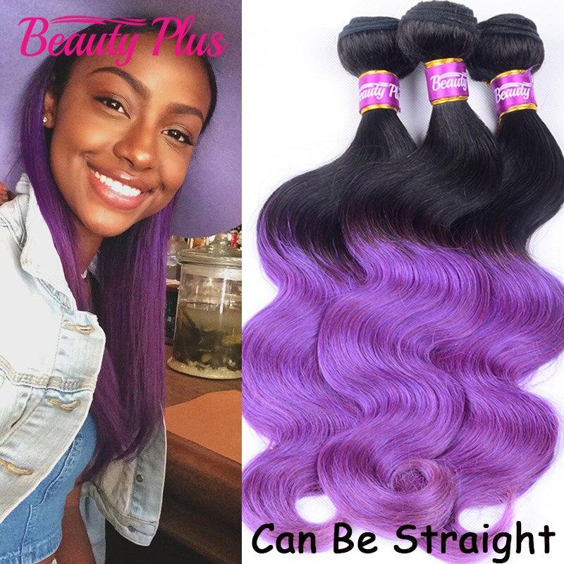 7A Malaysian Virgin Hair Body Wave Purple Ombre Hair Bundles Malaysian Human Hair Extensions Full Head Ombre Malaysian Hair<br><br>Aliexpress