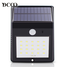 Dcoo Led Solar Lamp Light 20 LEDs Motion Sensor Garden Lamps Lampada Solar Luz Solar Garden Light Solaire Solar Street Lamp(China)