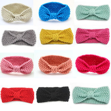 6pcs/lot  turban knitted Winter Warm Headband Crochet Knot Hairband Headwrap Hair Band Accessories for girls kids
