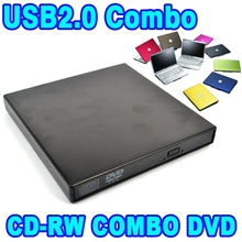 Slim External USB CD-RW Rewrite Burner Recorder Optical Drive Mobile DVD ROM Reader USB 2.0 Combo for Tablets Computer PC Laptop