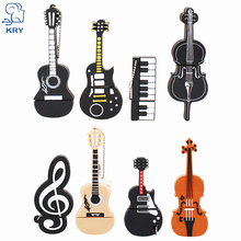 KRY Cartoon Violin Piano Guitar Flash Drive 2.0 4GB 8GB 16GB 32GB 64GB Instrument Model Flash u Drive Pen Driver Free Shipping(China)