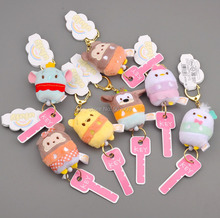 Free Shipping EMS 100/Lot Mickey Minnie Bear Daisy Dumbo Goofy Donald Duck Plush Keychain Pendant