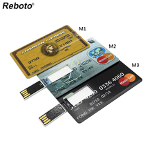 Reboto pendrive 64gb 3 country Bank Credit Card Shape USB Flash Drive 32gb 16gb 8gb 4gb Pen Drive Memory Stick best gift U Disk