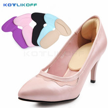 KOTLIKOFF 2 Pair Foot Care heels gel pad scholls insoles tools anti-friction heel gel pad slim patch orthopedic shoes for Women(China)