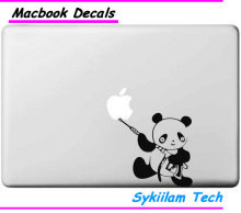 Armed Panda Cartoon Spoof Sticker for apple Macbook Skin Air 11 13 Pro 13 15 17 Retina Decal Computer Car Wall Vinyl Logo Case