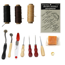 NEW 14Pcs/set Handmade Multifunctional Leather Craft Hand Stitching Sewing Tool Thread Awl Waxed Thimble Kit Sets DIY Tools(China)
