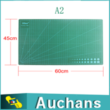 45*60mm A2 GREEN Self Healing Cutting Mat 3mm Non Slip Printed Grid Line Knife Board double side for model making