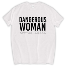 Unisex DANGEROUS WOMAN Logo TSHIRT GIRLS WOMENS ARIANA GRANDE INTO YOU TEE