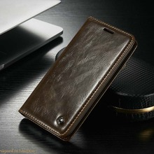 Flip Original Wallet Case Genuine Leather Auto Accessories Mobile Phone Case Cover For Samsung Galaxy A3 A5 A7 2015 Case JS0445(China)