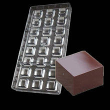24 Cavities Square Chocolate Mould Polycarbonate Candy Tray Jelly Mold Hard Injection PC Chocolate ria Mould