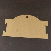 200PCS/Lot 16*9cm Free Shipping Jewelry White&Kraft Paper Cards Jewelry Hair Clip Notch Delicate Cards Accept custom logo