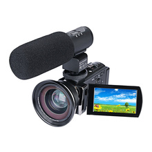 DSLR Microphone Video Digital Camera HDMI HD 1080P 3.0 inches LCD Portable Camcorder Wide Angle Camera with Microphone(China)