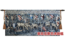 Hot-selling Classic tapestry Medieval designs The holy grail series - Deer and Shield Home wall hanging decorative textile