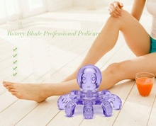 Portable Crystal Body Massage Handheld Octopus Massager For Relieving Neck Abdomen Back Muscle Pain