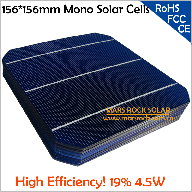 100pcs/Lot A Grade Solar Cell Mono 156x156mm,19.4% High Efficiency Solar Cells for Making PV Panel, Buy Solar Cell Get PV Ribbon(China (Mainland))