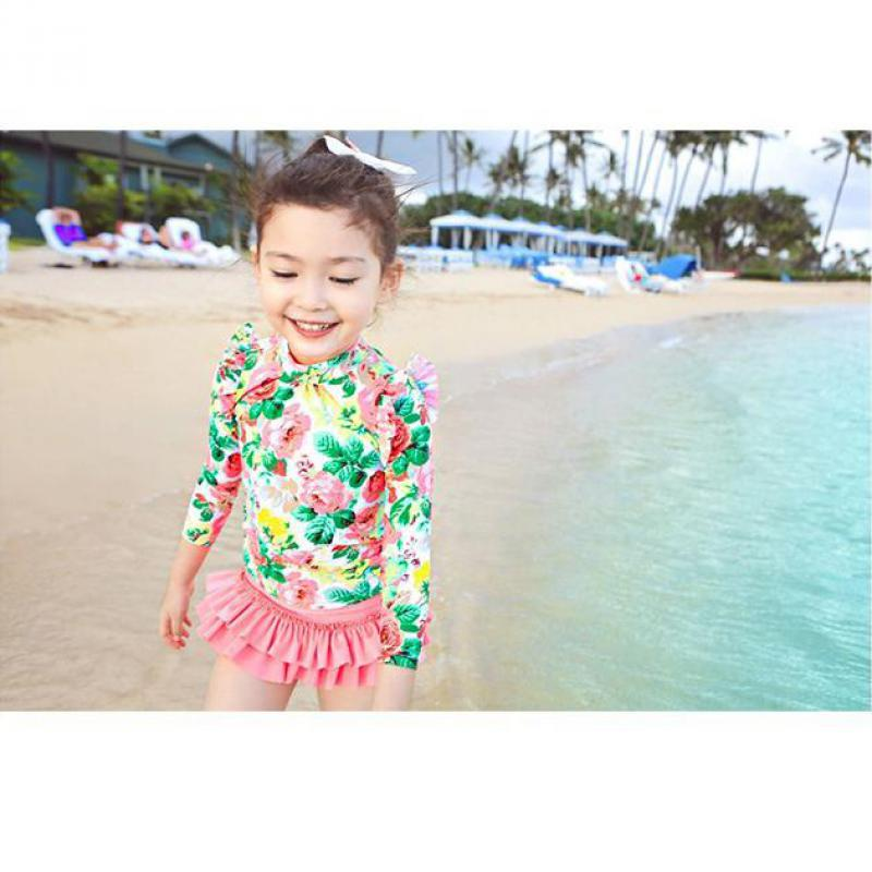 Girls Bikinis Flower Swimsuit Kids Two Pieces Children Bikini Swimwear Disfraces Infantiles Swimming Girls Bathing Suits M-3XL<br><br>Aliexpress