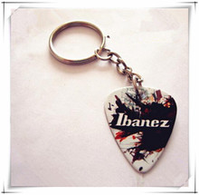 Customized logo on guitar pick key chain/key ring Personality gifts the good choice