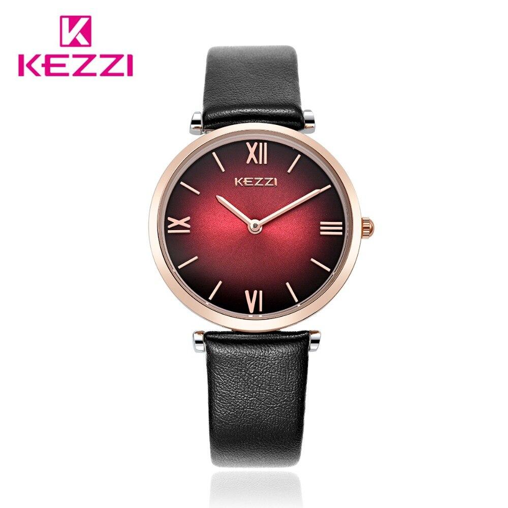 2016 Fashion New Brand KEZZI Wristwatch Women Dress Watch Leather Strap Watch High Quality Crystal Clock Relojes Mujer k1473<br><br>Aliexpress