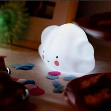 White mini Cloud Lamp Toy For Children Bedroom Nursery Room Decor Night Lamp Cloud Smile Face  Emitting Cut Night Light