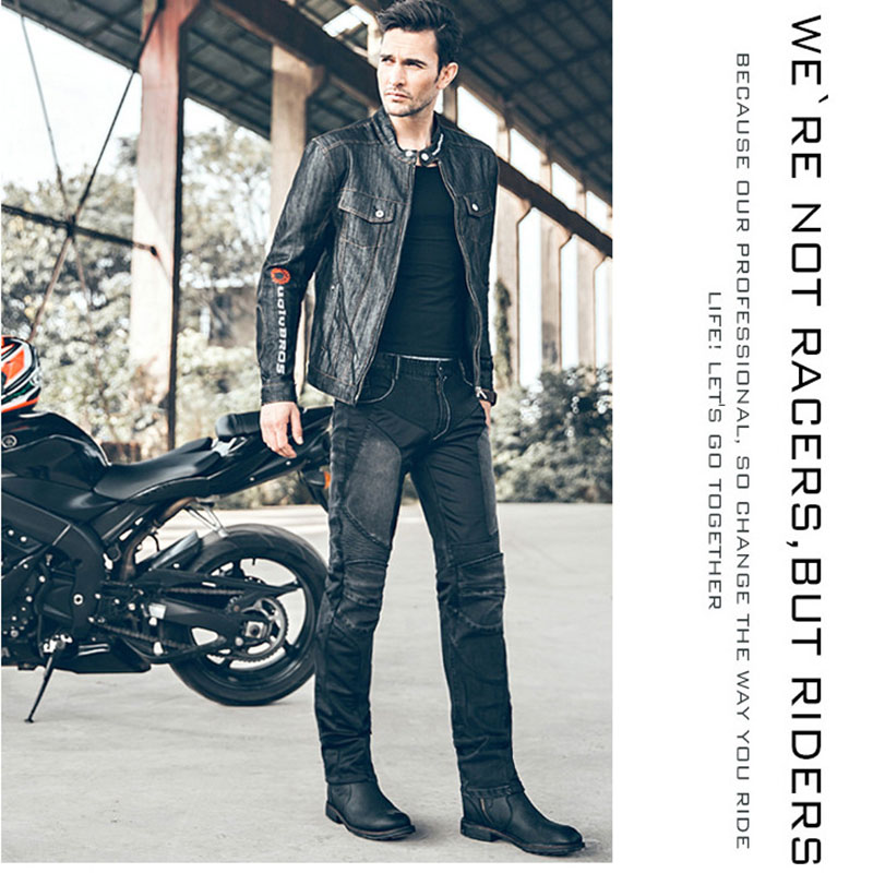 Motorcycle Riding Protection Pants Pantalones MOTO/ATV Uglybros Racer Jeans Men Oxford Cloth Cycling Knee Protect Trousers Black<br><br>Aliexpress