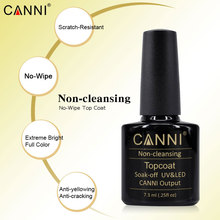 CANNI Non-cleansing Topcoat Professional Nail Salon Recommended 40601 No Wipe Sticky Yellowing Top Coat for All UV LED Nail Gel