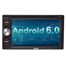 6.2'' Android 6.0 Double Din In Dash DVD CD Player Bluetooth WiFi GPS Support Mirror-Link/Steering Wheel Control+External Micro(China)