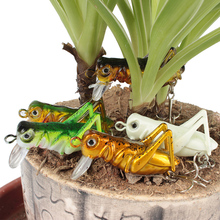 5pcs 3g 4cm Sea Fishing Tackle Flying Fishing Lures Jig Wobbler Lure Grasshopper Insects Hard Lure Bait Artificial Jerk Bait(China)